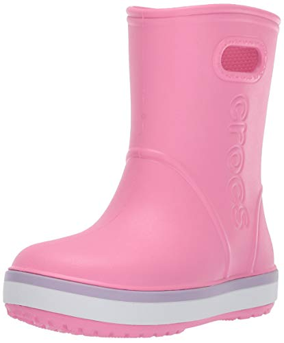 crocs Unisex-Kinder Crocband Rain Boot K Gummistiefel, Rosa (Pink Lemonade/Lavender 6qm), 22/23 EU