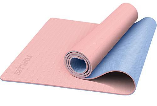 TOPLUS Yogamatte Gymnastikmatte Trainingsmatte Übungsmatte mit Tragegurt rutschfest gut für Anfänger bei...