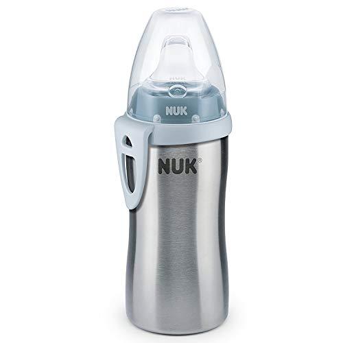 NUK Active Cup Trinklernflasche Kinder, auslaufsicher, hochwertiger Edelstahl, 215ml, 12+ Monate, BPA-frei,...