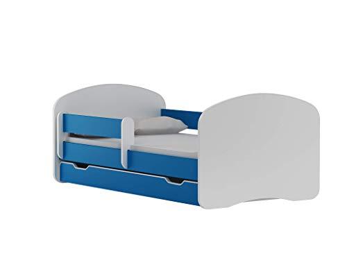 BDW NEU Kinderbett mit 2 Liegeflächen und 2 Matratzen DOPELLBETT 200x90 Blau - für Mädchen und Jungen...