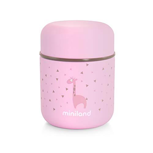 Miniland Isolierbehälter 280ml für Babynahrung - SILKY FOOD THERMOS MINI ROSE