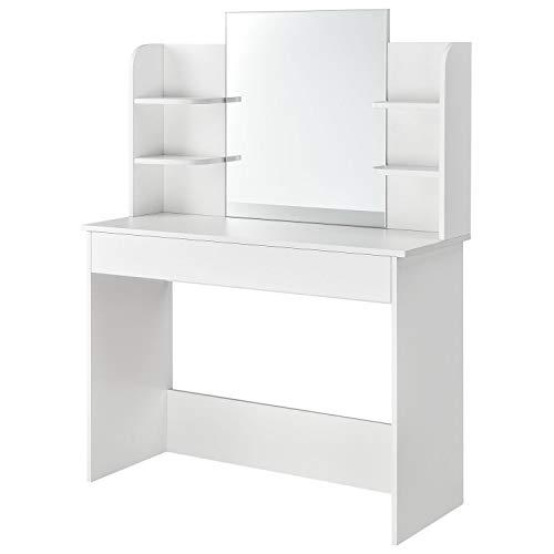 ArtLife Schminktisch Bella weiß |Frisiertisch mit Spiegel und Schublade für Schlafzimmer oder Jugendzimmer |...