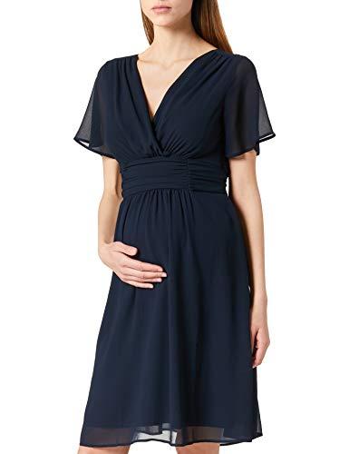 Noppies Damen Dress Ss Dorris Kleid, Blau (Night Sky - P277), L