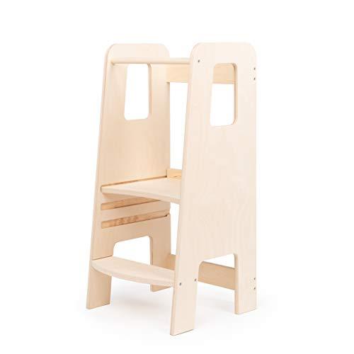 moblì® | ully natural learning tower | der erste lernturm aus naturholz | verstellbare Fachböden |...