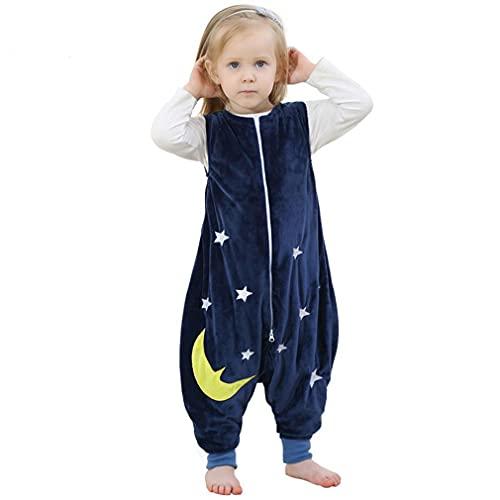 mama stadt Baby Tier Schlafsack mit Füßen, Ärmelloser Unisex Kinderschlafsack Schlafstrampler Flanell 4...
