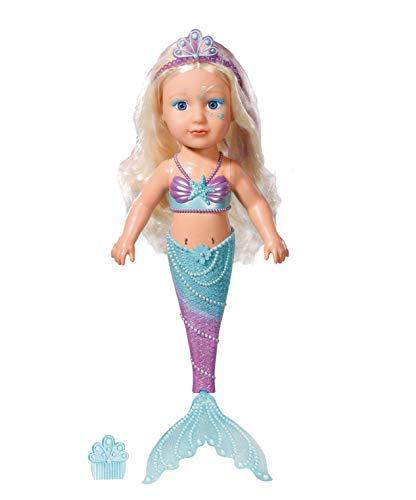 Zapf Creation 824344 BABY born Sister Meerjungfrau Funktionspuppe für das Wasser mit Fischschwanz und...