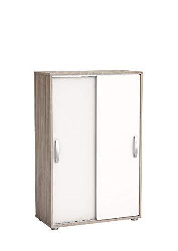 Wäscheschrank Selina Akazie 2 Türen B 68 cm H 106 cm Jugend Schlaf Kinderzimmer Schiebetürenschrank Holz...