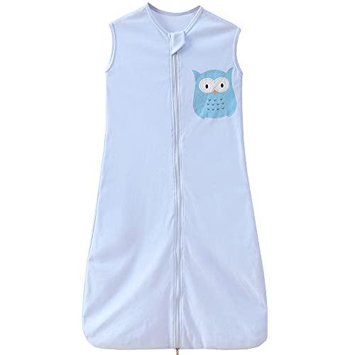 Kinder Sommerschlafsack Baby Schlafsack 0.5 tog mädchen Jungen Sommer Baby Schlafanzug 3-6 Jahre Blau Eule...