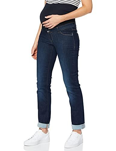 ESPRIT Maternity Damen Pants Denim OTB Straight Umstandsjeans, Blau (Darkwash 910), One Size...