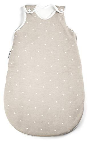 Ehrenkind® Baby Sommerschlafsack Rund | Bio-Baumwolle | Sommer Schlafsack Baby Gr. 74/80 Farbe Taupe mit...
