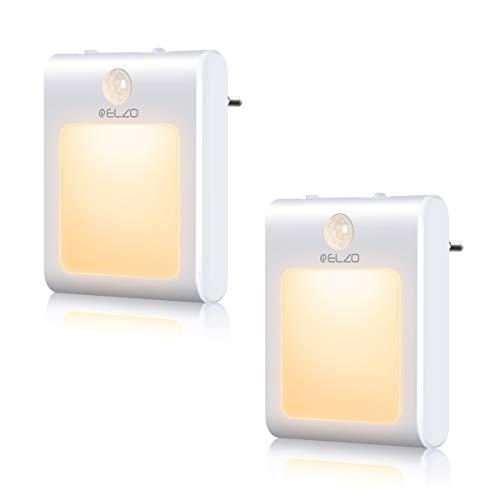 ELZO LED Nachtlicht Steckdose mit Dämmerungssensor Automatisch ON/OFF Stromsparendes, Nachtlicht Baby...