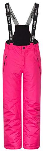 icefeld Skihose/Schneehose wasserdicht für Mädchen, pink in 98/104