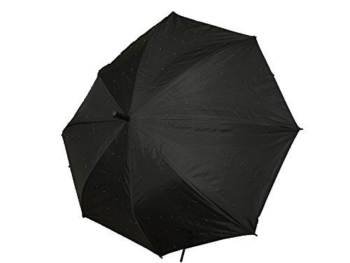 Unbekannt LED Sternenlicht Regenschirm - weiß bläuliche Lichtpunkte, Leuchtschirm als Geschenkidee zu...