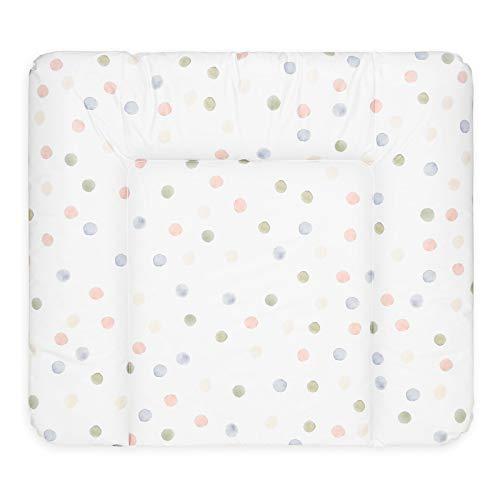 Bonky Wickelauflage weiche Wickelunterlage Baby Wickeltischauflage Abwaschbar - farbige Punkte - 70 x 85 cm