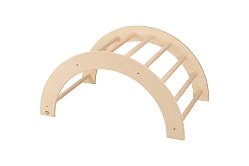 VU Holzspielzeug Kletterbogen / Bogenleiter (Pikler Art), mittelgroß, fertig zusammengebaut, Made IN Germany