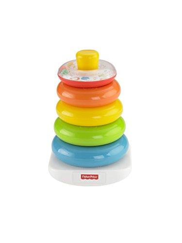 Fisher-Price FHC92 - Farbring Pyramide bunter Stapelturm Baby Spielzeug und Lernspielzeug zum Sortieren und...