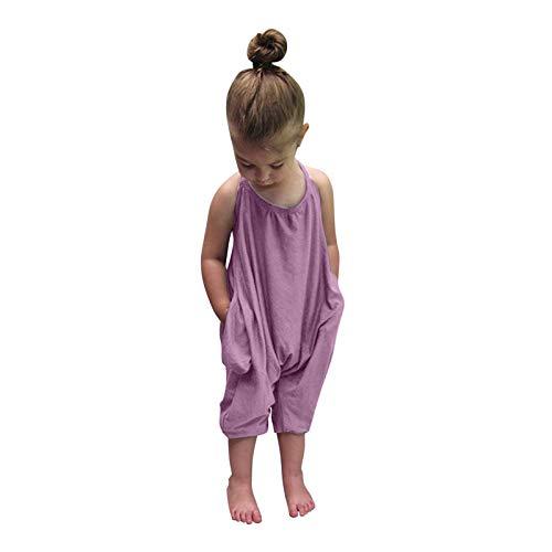Huihong Jumpsuit Overall Trainingsanzug Kinderoverall Kinderbekleidung Ärmellos Spielanzug Kleinkind Mädchen...