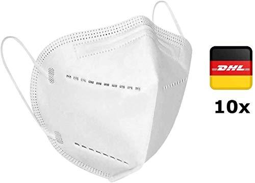10x Atemschutz Maske Premium mit eingenähtem Nasenclip Mund und Nasenschutz Mundschutz Atemmaske -...