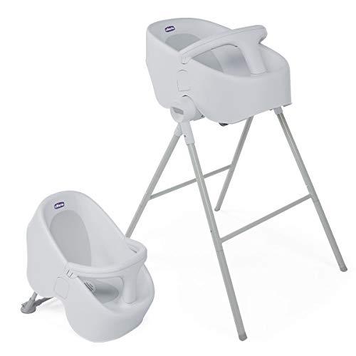 Chicco Bubble Nest Wannensitz mit Ständer von Geburt bis 12 Monate, Hoher Badesitz für die Dusche und für...