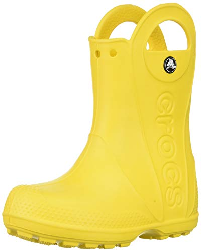 Crocs Handle It Rain Boot, Unisex - Kinder Gummistiefel, Gelb (Yellow), 27/28 EU