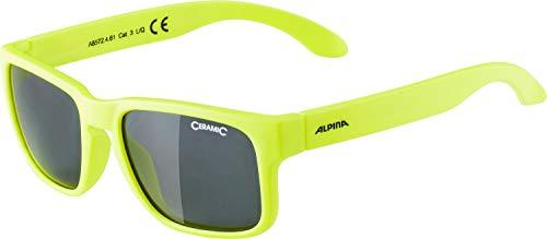 ALPINA Unisex - Kinder, MITZO Sonnenbrille, neon yellow matt, One size