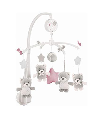 BIECO Musik Mobile Baby, Design: Bärchen Cosmo | Ø 33 cm, Höhe 55 cm | Baby Einschlafhilfe, Spieluhr Baby |...