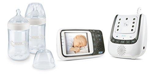 NUK 10225149 Babyphone Video und Nature Sense Set, 1 x NUK Babyphone Eco Control+ Video, 2 x NUK Nature Sense...