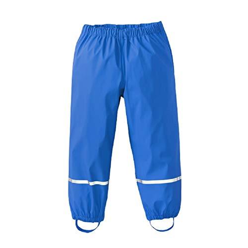 AMIYAN Kinder Regenhose wasserdichte Atmungsaktiv Buddelhose Matschhose für Mädchen Jungen Blau 122/128