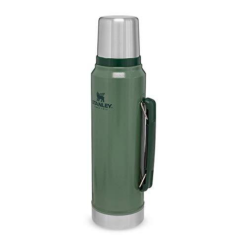 Stanley Classic Legendary Bottle 1 Liter / 1.1QT Hammertone Green - Edelstahl-Thermoskanne - BPA-frei - Hält...