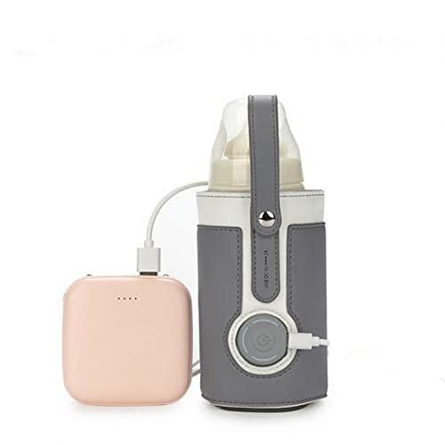 Flaschenwärmer Baby Unterwegs USB Auto Milchflaschenwärmer Babyflaschenwärmer, Rutschfest Ungiftig 5V 2A...