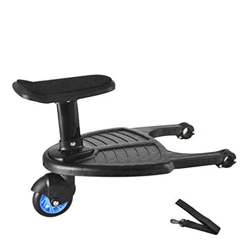 Buggy Board mit Sitz abnehmbar und montierbar Kinderwagen Rad Board Kinderwagen Ride on Board für 3-7 Jahre...