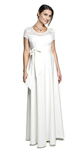 Torelle Maternity Wear Brautkleid lang für Schwangere Damenkleid Weiss Umstandskleid, Modell: Natalie, Creme,...
