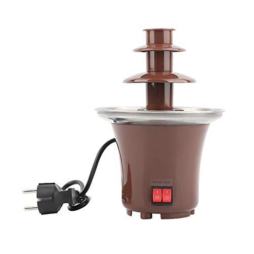 BLLXMX Mini Schokoladenbrunnen Fondue Set, 3-Tier Schokoladenfondue Fountain Electric Edelstahl...