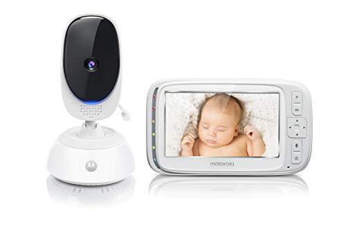 Motorola Baby Comfort 75 Video-Babyphone mit Schwenk- und Zoomfunktion, 5,0 Zoll Farbdisplay, Nachtsicht,...