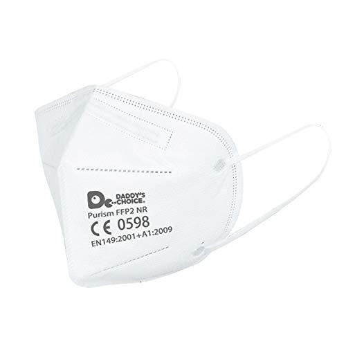 Purism 20 Stück FFP2 Atemschutzmaske Staubschutzmaske Atemmaske 5-lagige Masken Nasen - Mundschutzmaske