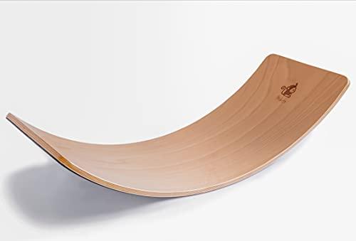 Mikito Balance Board Holz für Kinder und Erwachsene mit Filzunterseite | Montessori Lernspielzeug Holzbrett...