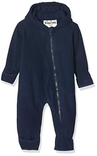 Playshoes Baby-Unisex Fleece-Overall Uni Strampler, Blau (Marine 11), (Herstellergröße: 74)