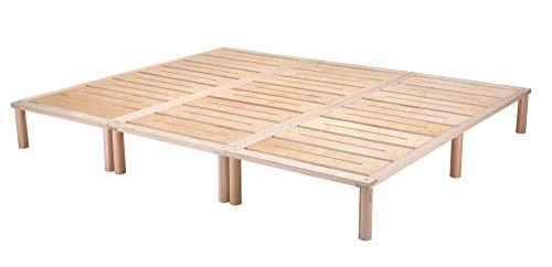 Gigapur G1 28992 Bett, Co-Sleeping, Birke Schicht-Holz, Bettrahmen Belastbar bis 195 kg, Natur, 240 x 200 cm...