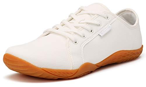 WHITIN Herren Canvas Sneaker Barfussschuhe Traillaufschuh Barfuss Schuhe Barfußschuhe Barfuß Barfußschuh...