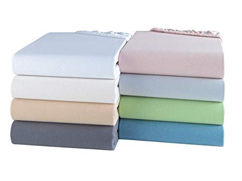 BaSaTex Bio Jersey Spannbettlaken 100% GOTS Zertifizierte Baumwolle | Spannbetttuch in Allen Größen |...