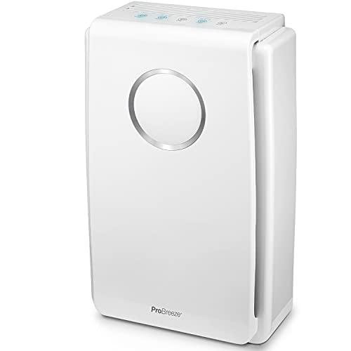 Luftreiniger von Pro Breeze mit True HEPA Luftfilter für Allergiker, Air Purifier für bis zu 40m², CADR...