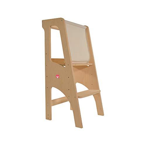 Bianconiglio Kids ® Evo 2020 Learning Tower, Birkenmehrschichtig Beste Qualität, KIDSAFE Naturholz,...