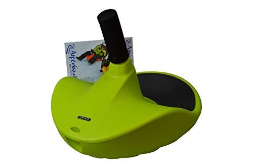 AlpenGaudi Zipfel Kunststoffunststoffrodel AlpenZipfel,grün, 57cm Bob Rodel Zipfelbob bis 100Kg belastbar
