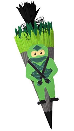 Schultüte Bastelset Ninja - Zuckertüte - aus 3D Wellpappe, 68cm hoch