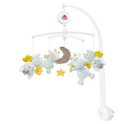 Fehn 065084 Musik-Mobile Little Castle – Spieluhr-Mobile mit zauberhaften Schlosswesen – Für Babys von...