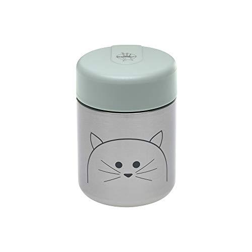 LÄSSIG Baby Kinder Thermo Warmhaltebox Brei Snacks auslaufsicher Edelstahl/Little Chums Cat