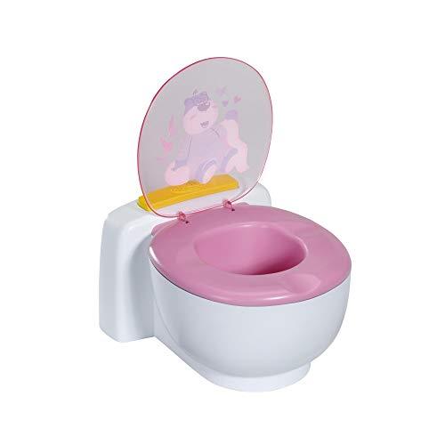 Zapf Creation 828373 BABY born Bath Toilette mit Geräuschfunktion und glitzerndem Häufchen zum wegspülen,...