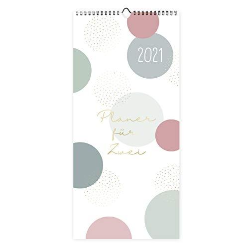 Planer für Zwei 2021   Jahreskalender als Wandkalender modern mit 3 Spalten, ab Dez 2020   Übersichtlicher...