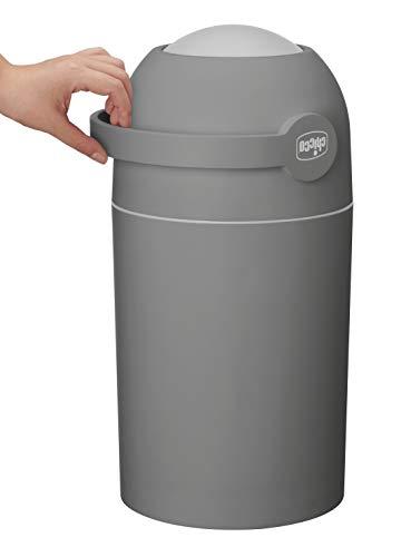 Chicco Windeleimer Odour OFF, - geruchsdichtes System, herkömmliche Tüten verwendbar, dark grey