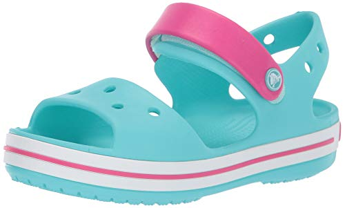 Crocs Crocband Sandal Kids, Unisex - Kinder Sandalen, Blau (Pool/Candy Pink), 27/28 EU